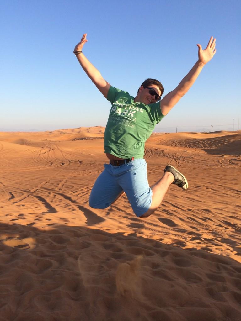 В пустыне (это я)