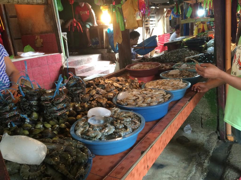 Морские гады на рынке