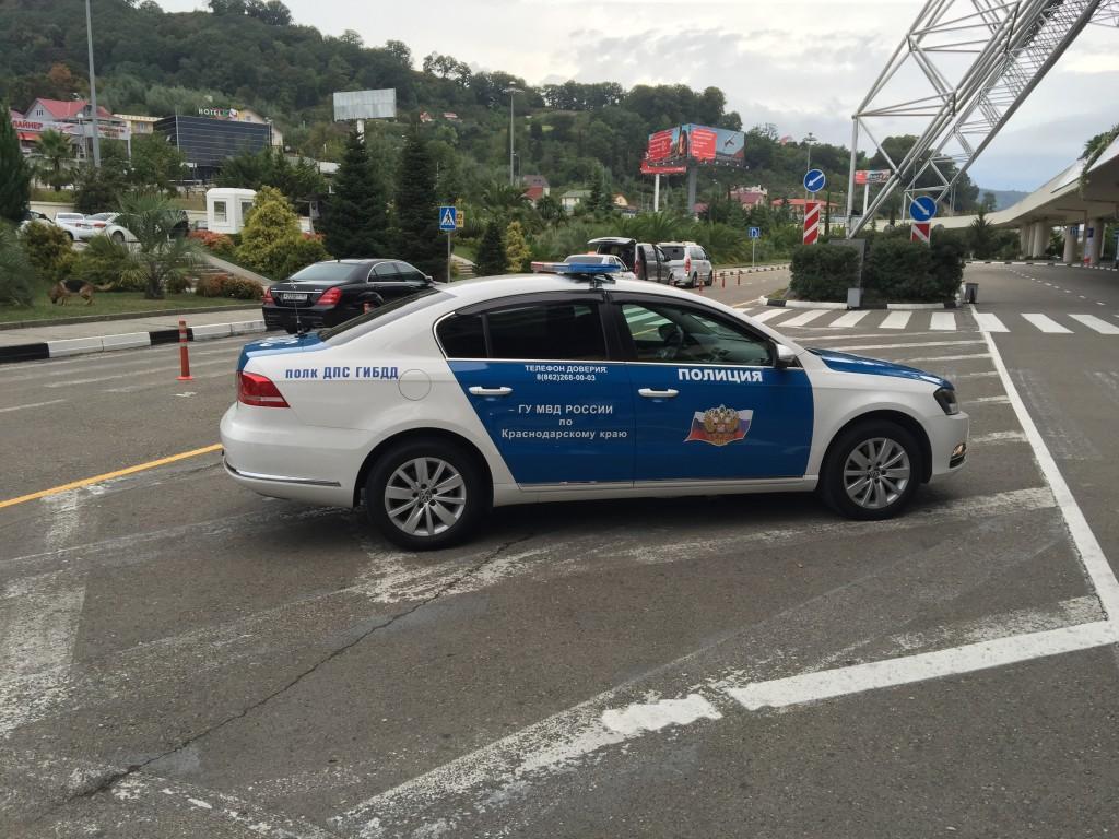 Какой-то необычный окрас для машин полиции
